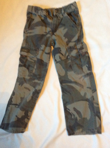 Kids Size: 7 Slim Camo Cargo Pants