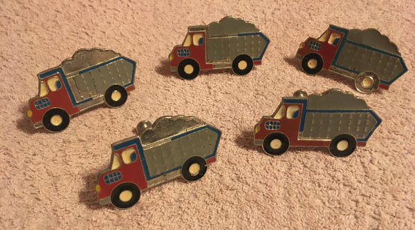 #205 Set of 5 Dump Truck Style Metal Drawer Pulls - With Screws