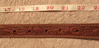 "#204 Leather Belt Strap - 25"" - Kids - NO Buckle"