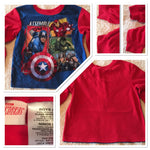 #096 Sz 8 Superhero Sleep Shirt - Avengers