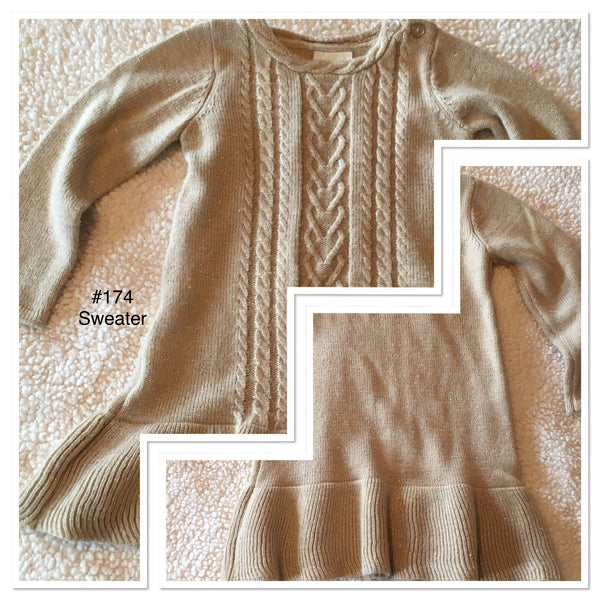 #174 Sz 3T Sweater - Crazy 8