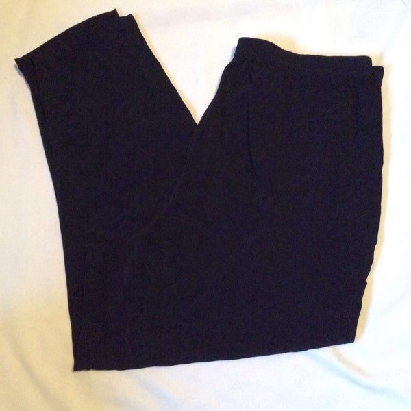 #075 Sz 2X Black Stretch Pants - Kathy Ireland Plus