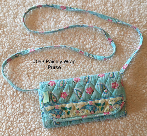 #093 Small Paisley Wrap Purse Wallet - MaggiB