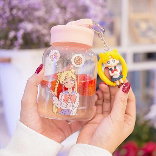 Kawaii Sailor Moon Glass Water Bottle
