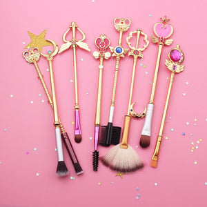 Hand-Made Sailor Moon Makeup Brush Set