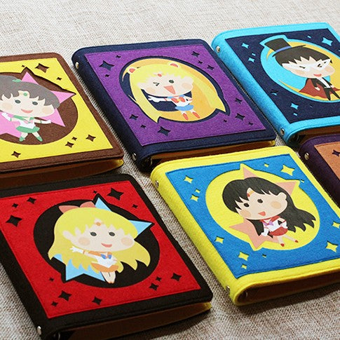 Hand-made Sailor Moon Wool Felt Loose-Leaf Notebook