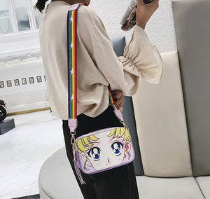 Sailor Moon Clutch with Rainbow Strap