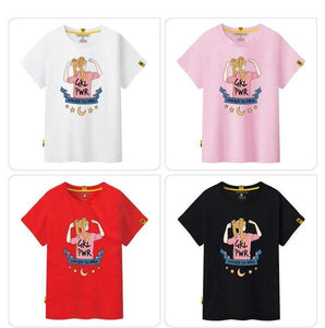 Girl Power Sailor Moon Cotton T-shirt (8 Colors)