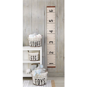 Mudpie Canvas Growth Chart - The Monogram Shoppe