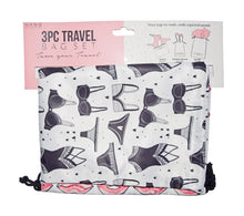 3 Piece Travel Bag Set - The Monogram Shoppe