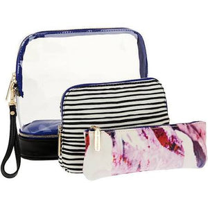 3-in-1 Cosmetic Bag - The Monogram Shoppe