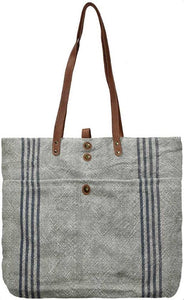 Large Vintage Jute Totes - The Monogram Shoppe
