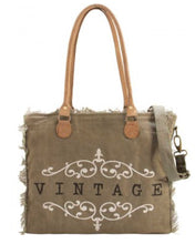 Vintage Addiction Canvas Market Totes - The Monogram Shoppe