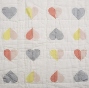 Lil' Pyar Heart & Frills Tej Baby Quilt - The Monogram Shoppe