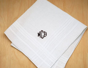 Personalized & Monogrammed Hankerchiefs - The Monogram Shoppe