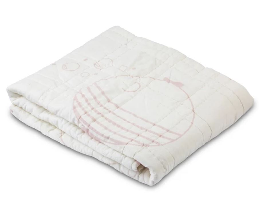 Lil' Pyar Fish & Bubbles Reversible Baby Quilt - The Monogram Shoppe