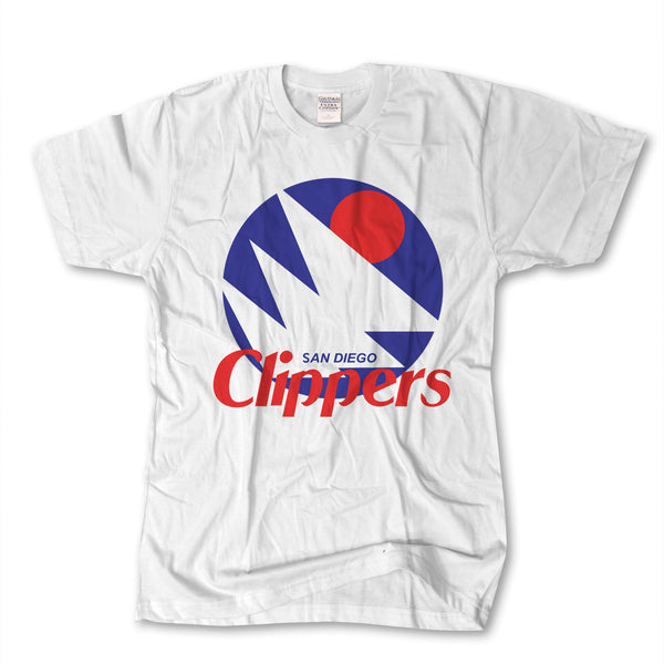 San Diego Clippers Basketball Original White T-Shirt