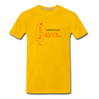 Sheboygan Redskins Basketball Team | White Unisex T-Shirt - sun yellow