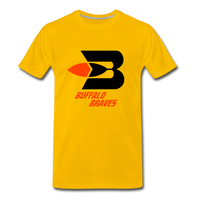 Buffalo Braves Heather Grey Unisex T-Shirt - sun yellow