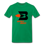 Buffalo Braves Heather Grey Unisex T-Shirt - kelly green