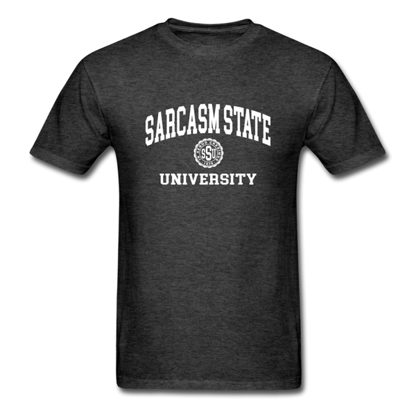 Sarcasm State University Alumni Unisex T-Shirt - heather black