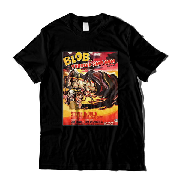 the blob cool horror movie poster black unisex t shirt
