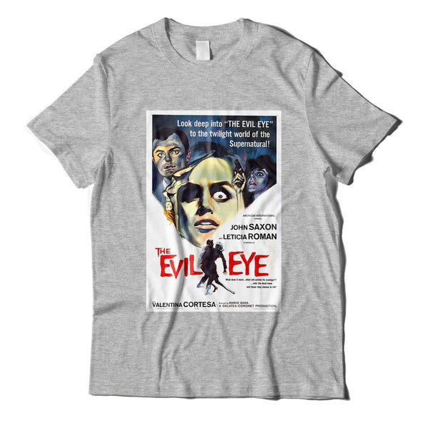 The Evil Eye Cool Horror Movie Poster Heather Grey T-Shirt