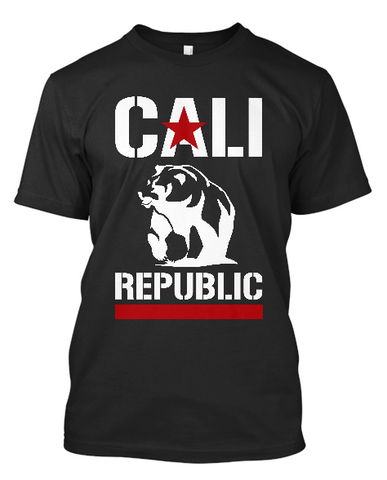 Short-Sleeve Cali Republic Bear T-Shirt (white print)