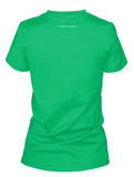 Women's Faded Old Glory Shamrock t-shirt for Saint Patrick's Day.