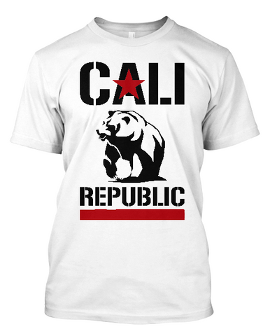 Short-Sleeve Cali Republic Bear T-Shirt (Black print)