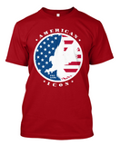 American Icon Brand T-Shirt On Super Durable American Made Soft Cotton Tee.
