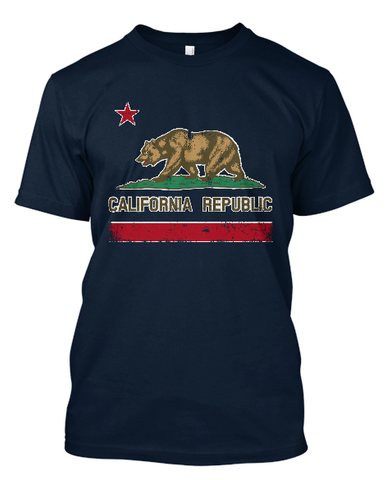 Short-Sleeve California Republic Flag T-Shirt