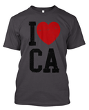 Short-Sleeve I Love CA T-Shirt