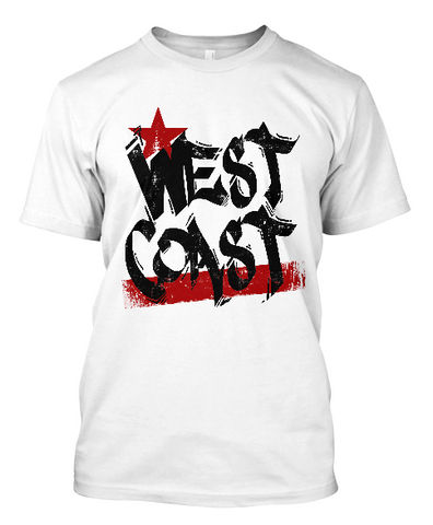 Short-Sleeve West Coast Black and Red T-Shirt