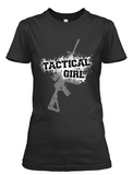 Women's short sleeve Tactical Girl Rifle t-shirt