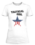 Women's short sleeve Tactical Girl Flag Star t-shirt