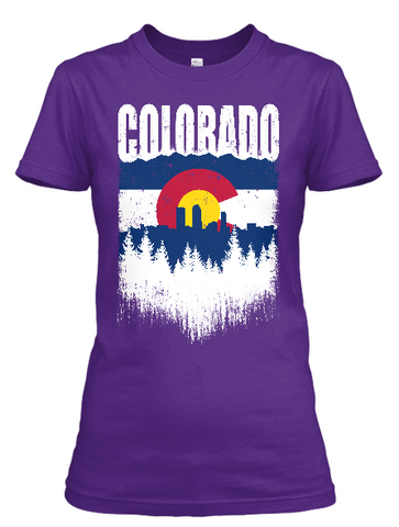 Women's Denver Skyline short sleeve t-shirt