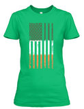Women's short sleeve Irish American Flag t-shirt