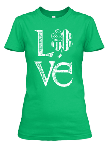 Women's Saint Patrick's Day Love T-shirt