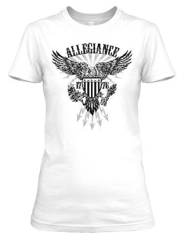 Women's short sleeve Allegiance by American Icon t-shirt