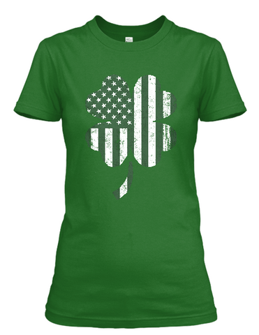 Women's Shamrock Flag short sleeve t-shirt
