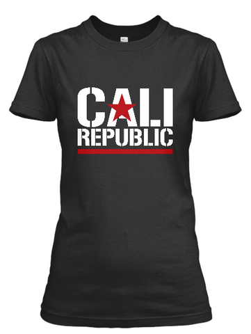 Women's short sleeve California Republic print t-shirt