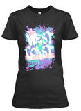 Women's short sleeve West Coast Colors t-shirt