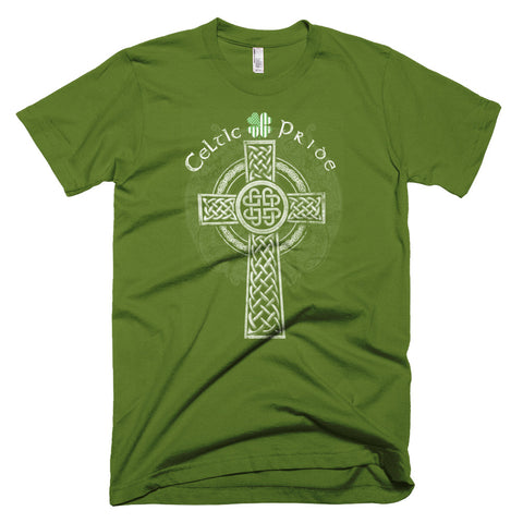 Short-Sleeve Celtic Pride Clover and Cross T-Shirt from our Saint Patrick's Day collection.