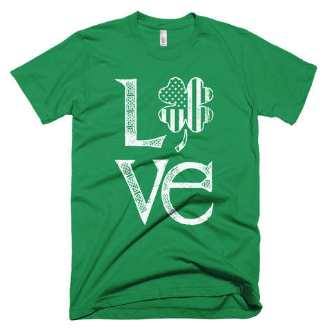 Short-Sleeve Saint Patrick's Day Love T-Shirt