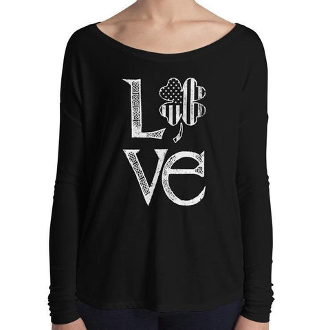 Ladies' Long Sleeve Irish Love Tee