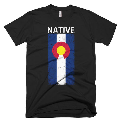 Short-Sleeve Colorado Native Stacked Flag T-Shirt