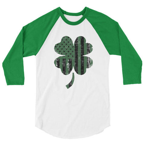 Women's Shamrock Shirt 3/4 sleeve raglan shirt by American Icon