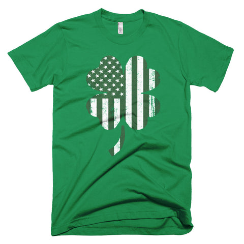 Short-Sleeve Four Leaf Clover Flag T-Shirt from the American Icon Saint Patrick's Day collection.