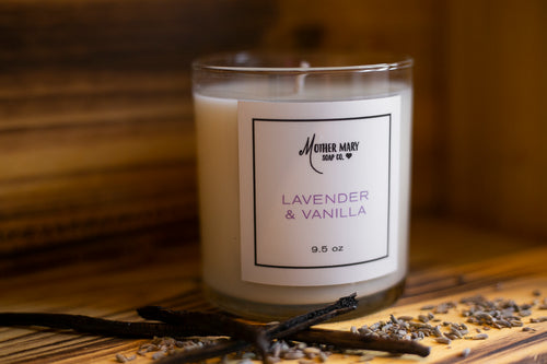 Lavender & Vanilla Candle - Mother Mary Soap Company
